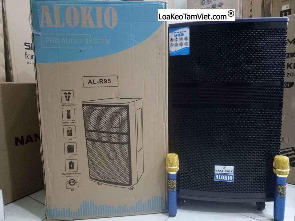 "Loa kéo ""ALOKIO R95""karaoke di động bass 4 tấc"
