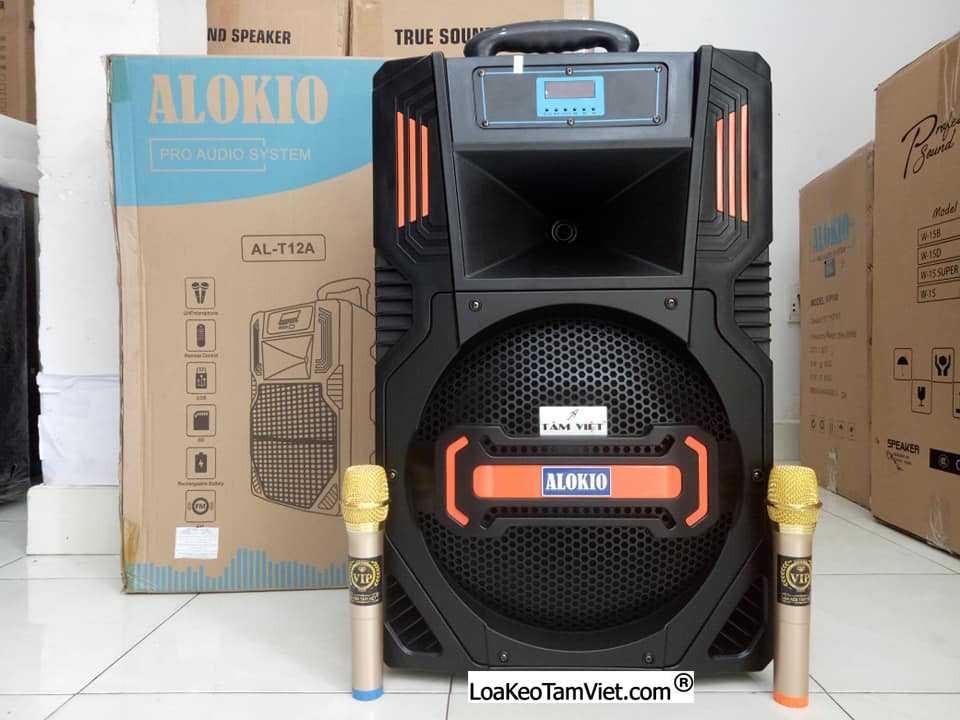 "Loa kéo ""ALOKIO AL-T12A"" karaoke di động bass 4 tấc"
