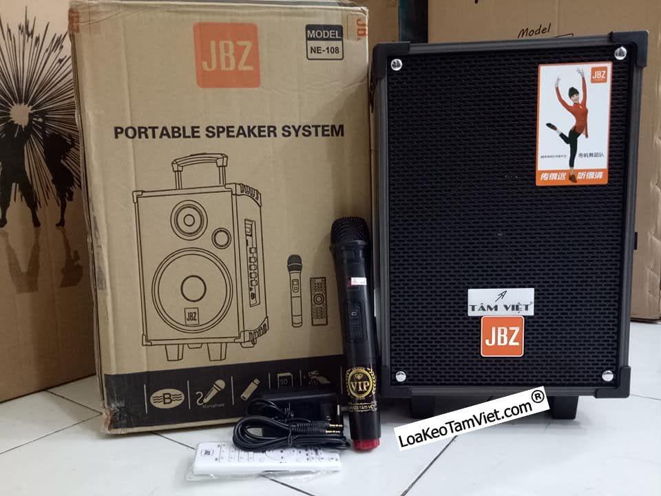 """Loa kéo """"JBZ NE-108"""" karaoke di động bass 2 tấc."""